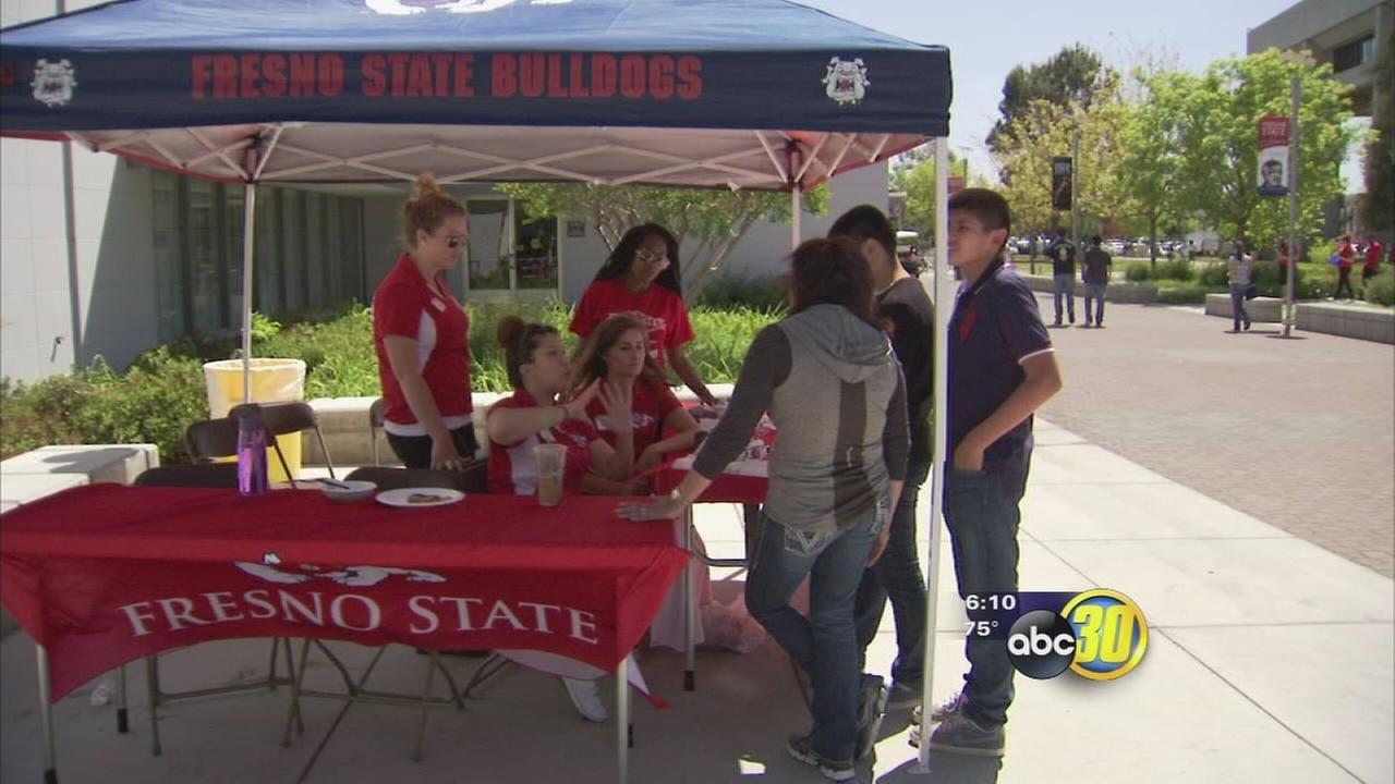 Prospective Fresno State students check out campus on Preview Day