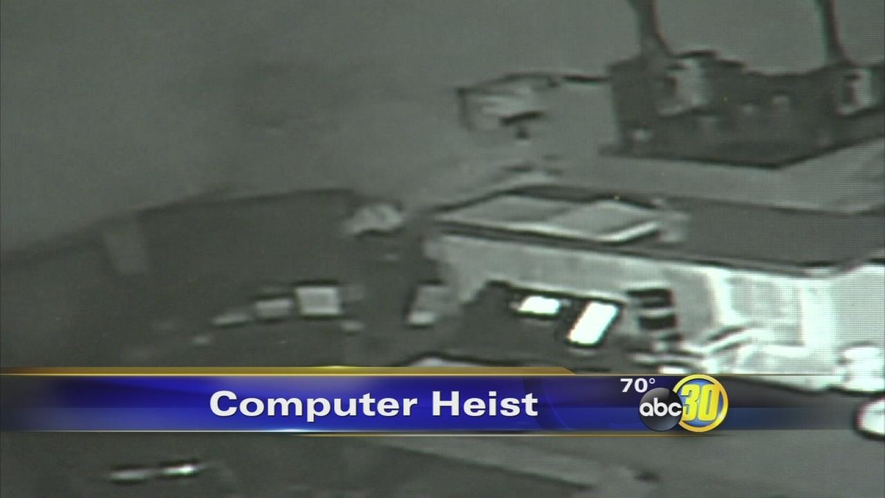 Burglars take $8,000 in computers from Fresno business