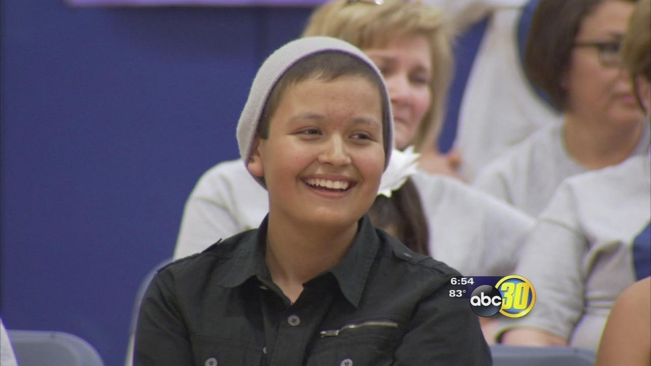 Community rallies for Firebaugh student battling leukemia