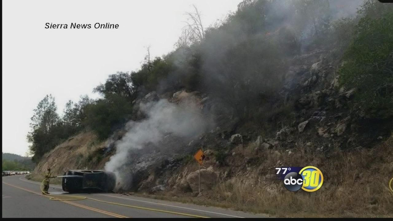 Car accident sparks fire in ONeals area