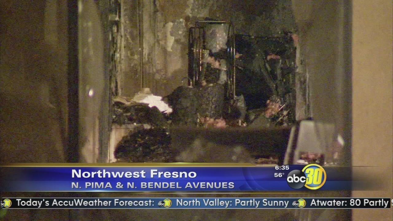Grease fire damages kitchen in Northwest Fresno
