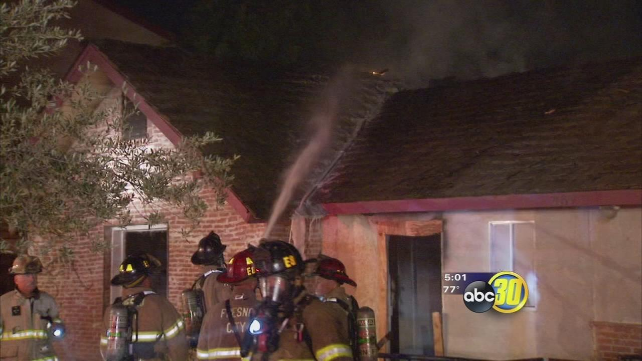 Firefighter recovering after fire hits Southeast Fresno home