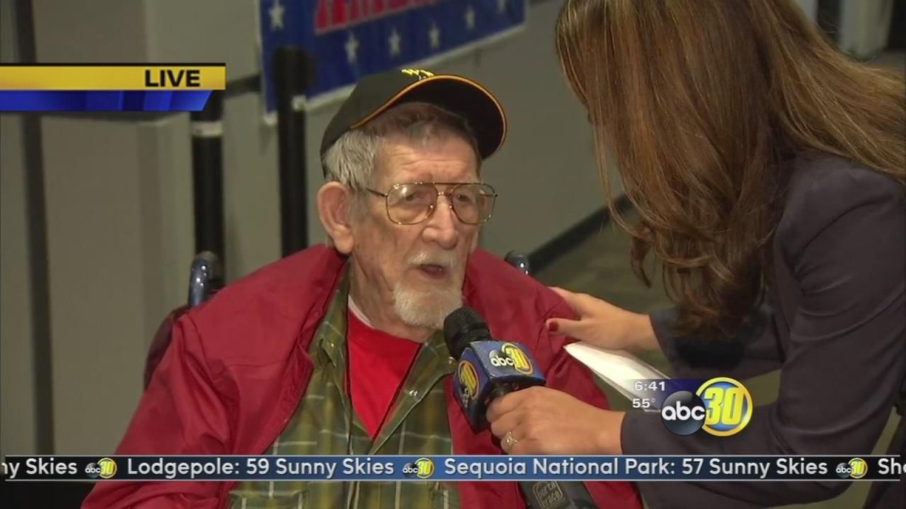 WWII veterans take off in the Central Valley Honor Flight