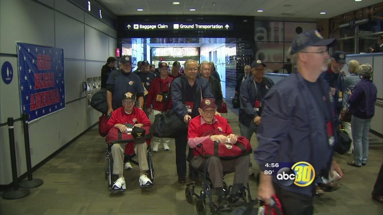 Veterans embark on 6th Central Valley Honor Flight