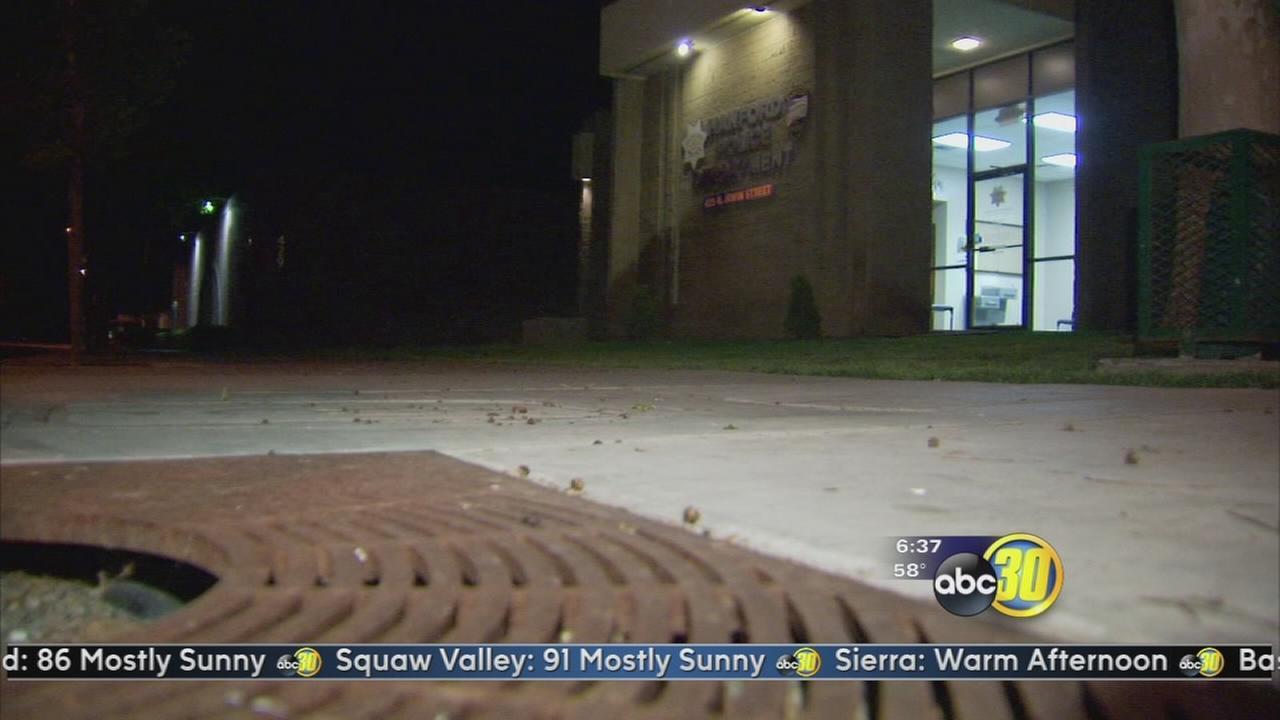 Shooting victim crashes car at Hanford Police Department