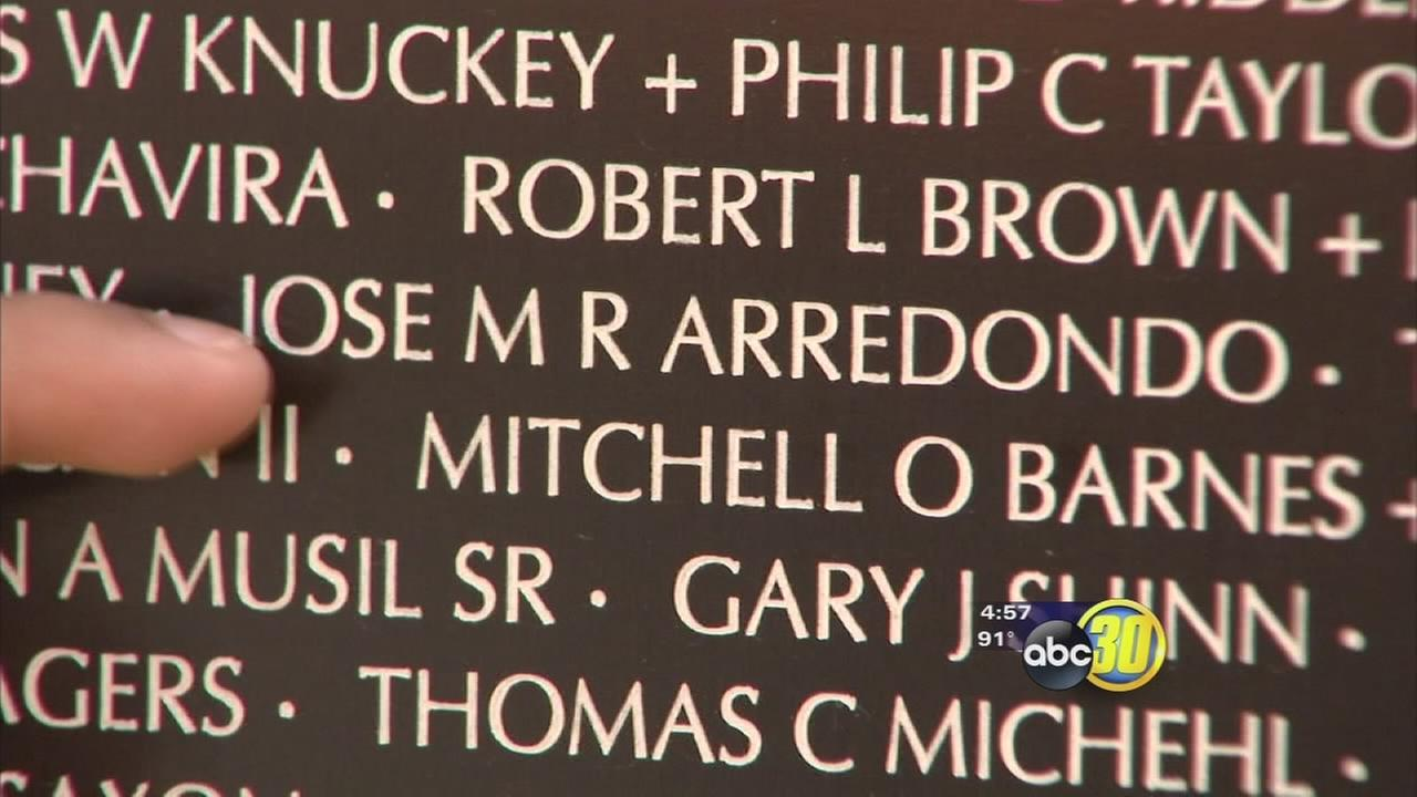 Unveiling a new memorial in Dinuba thats honoring Valley veterans