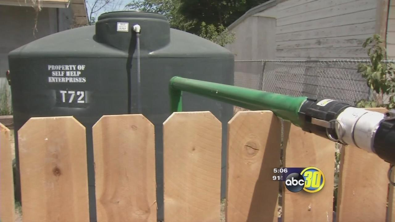 Finding water to fill East Porterville tanks is a challenge