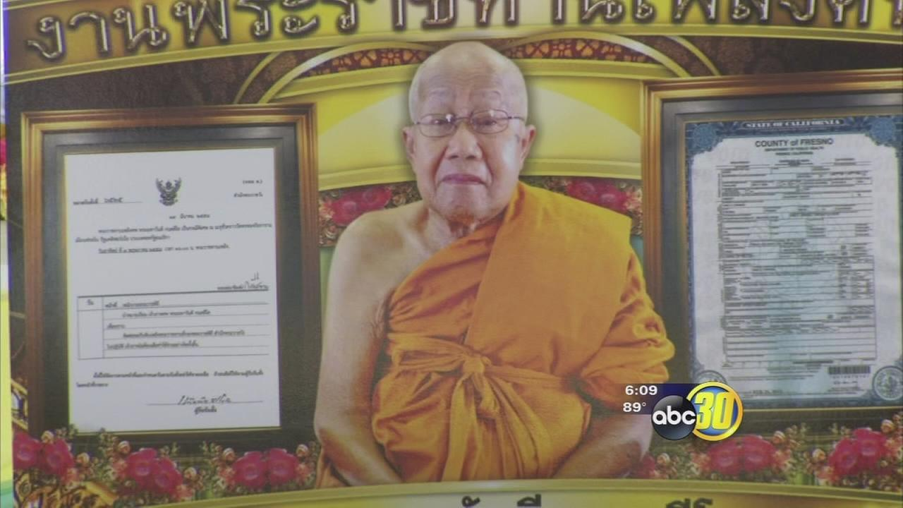 Buddhist monks remember founder of Fresno County temple