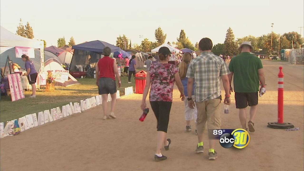 Hundreds lose sleep to help fight cancer in Northeast Fresno