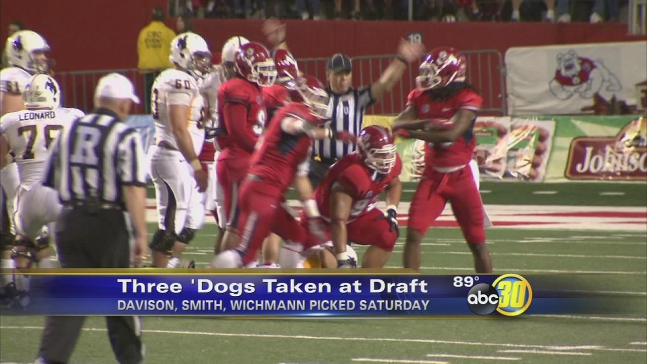 3 Fresno State Bulldogs selected in NFL Draft
