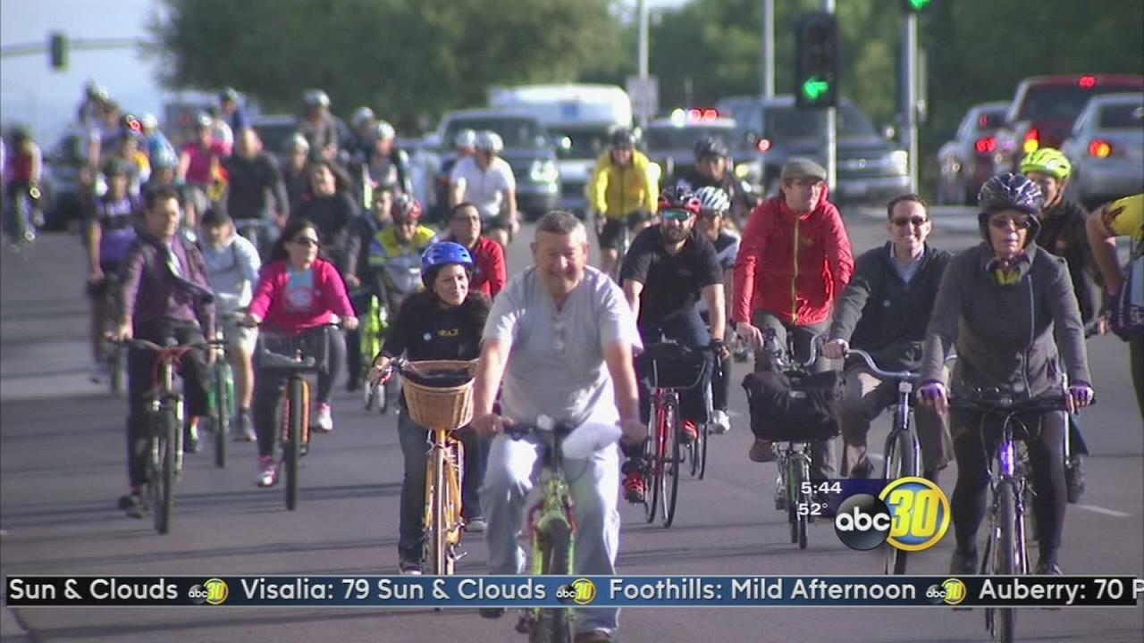 Mall to Mall ride kicks of National Bike Month in Fresno
