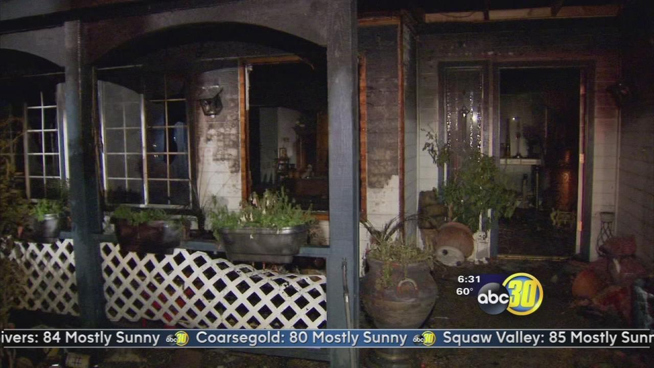 Fresno Police officer rescues man in wheelchair from burning home