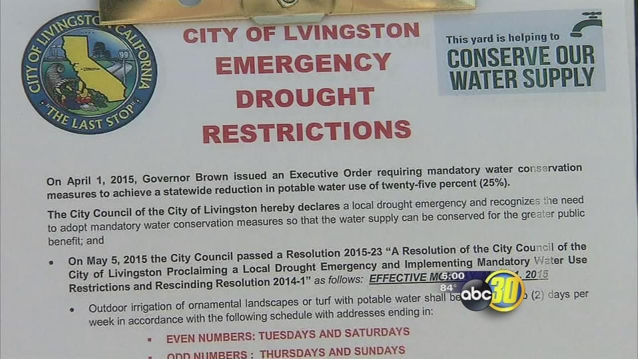 Livingston declares drought emergency, limits outdoor watering