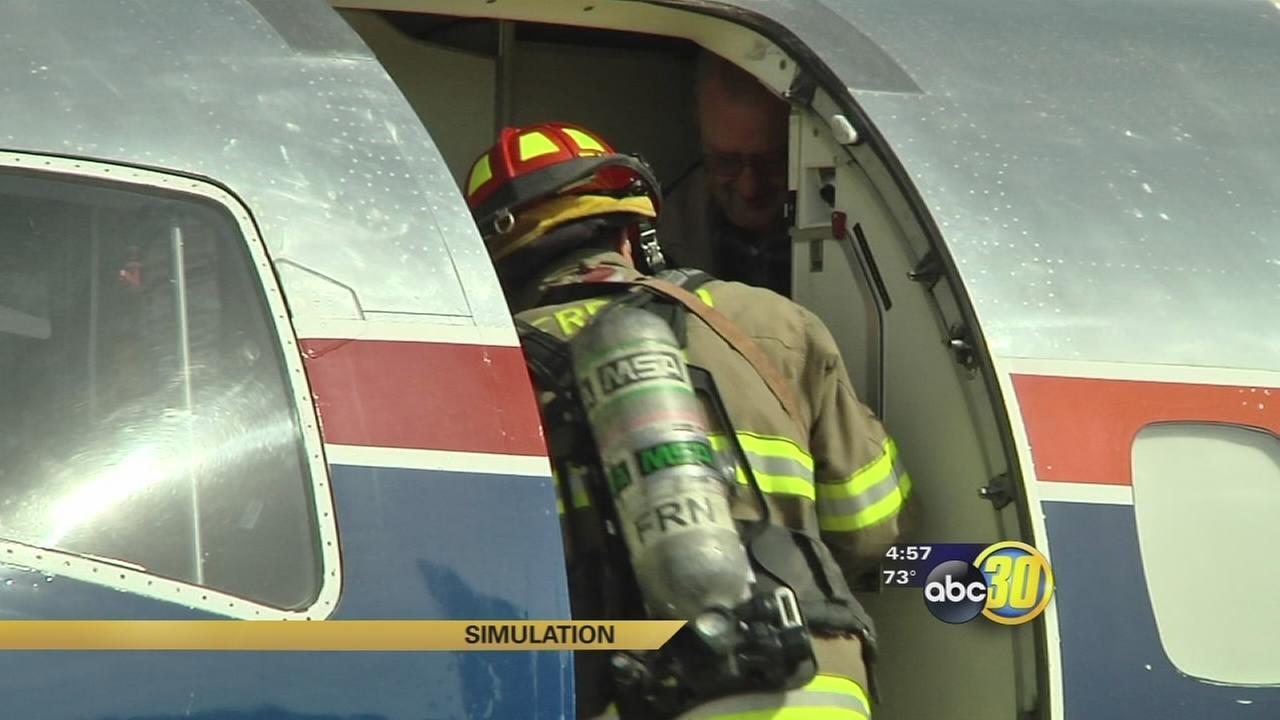Fresno first responders testing skills in simulated plane crash