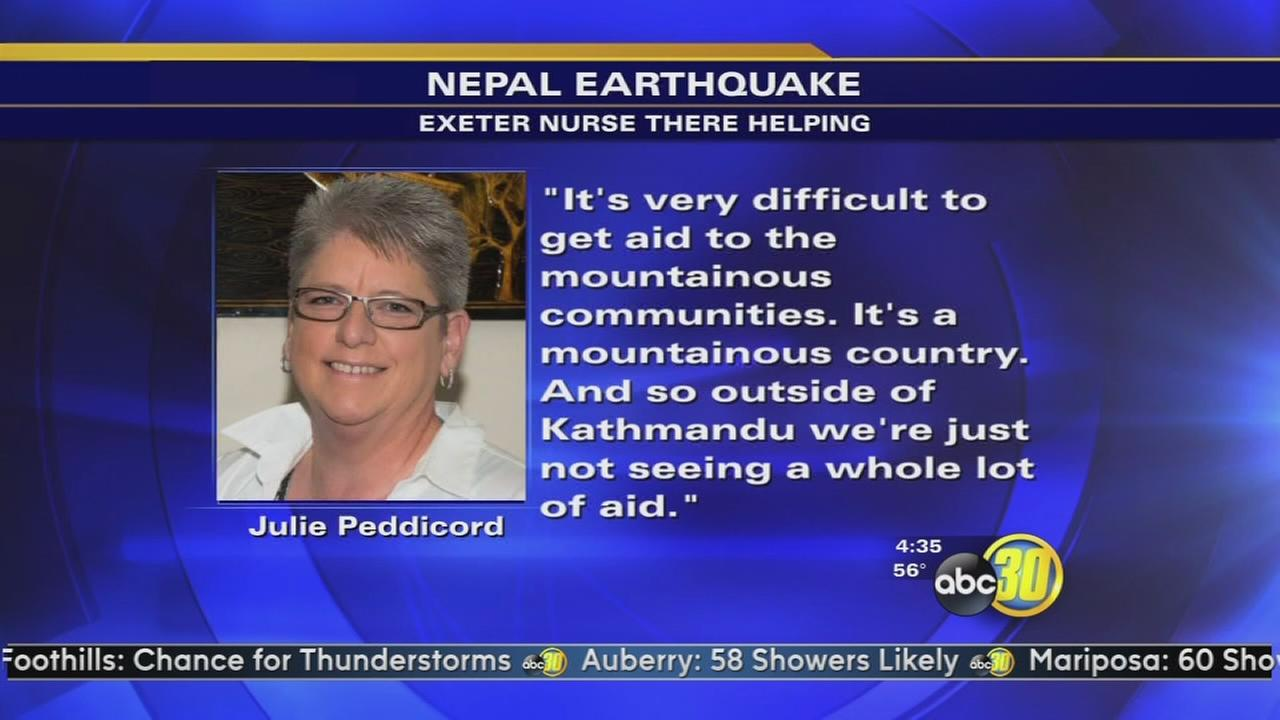 Exeter nurse helps earthquake victims in Nepal