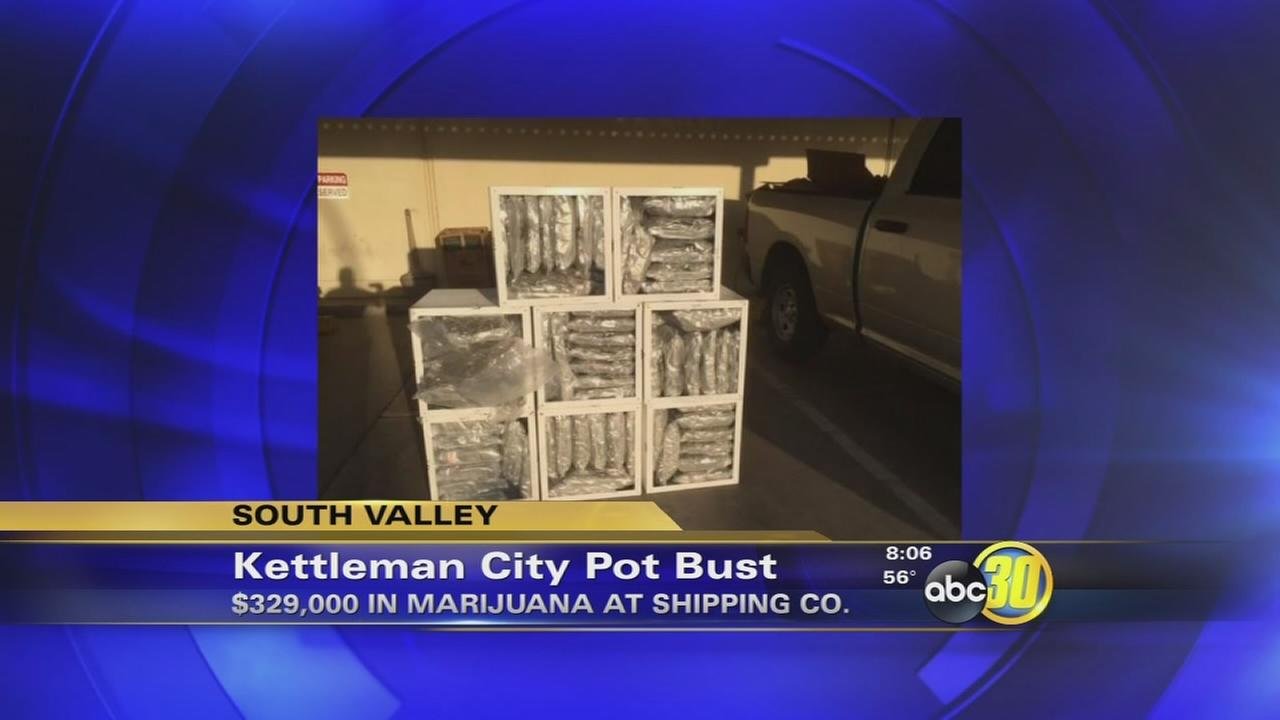 Pallet of marijuana discovered at shipping company in Kettleman City