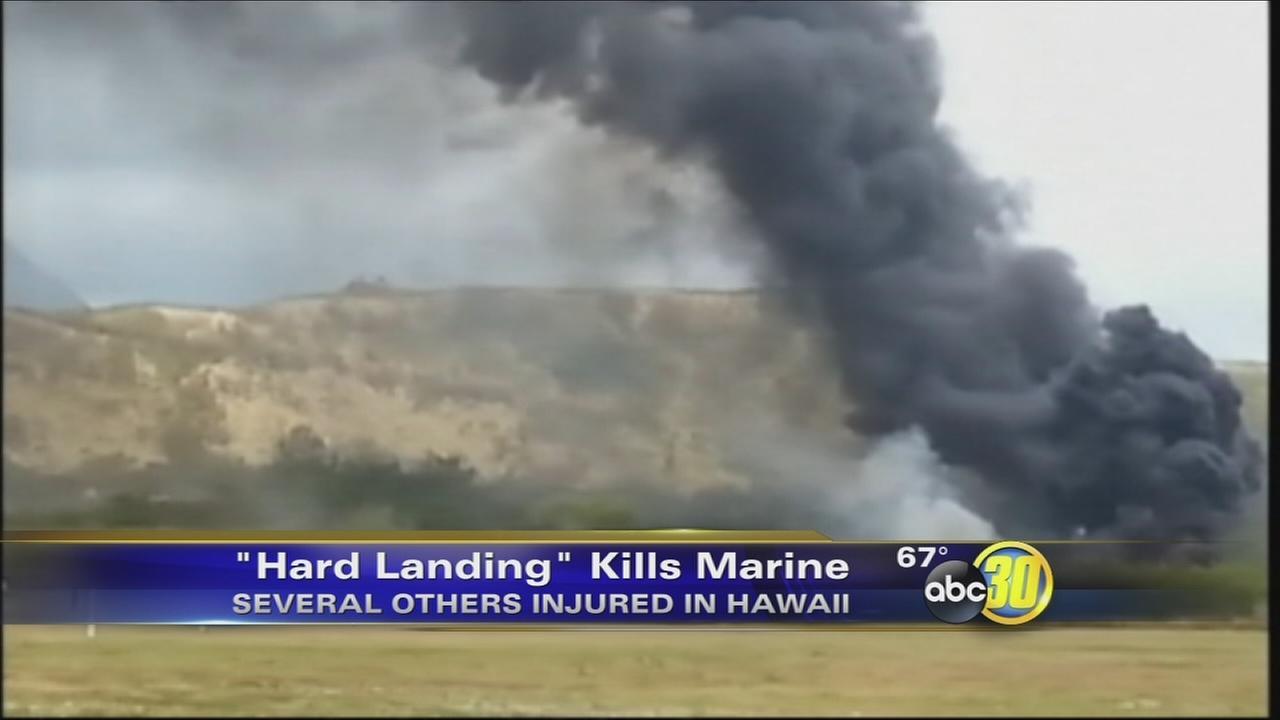 US Marine Osprey crashes in Hawaii; 1 dead, 21 injured