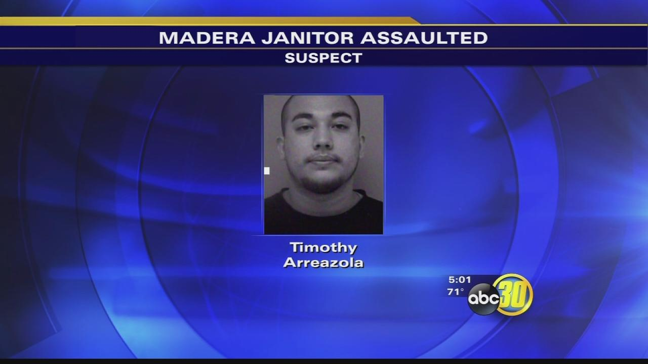 Madera police arrest 1 of 2 suspects in janitor attack
