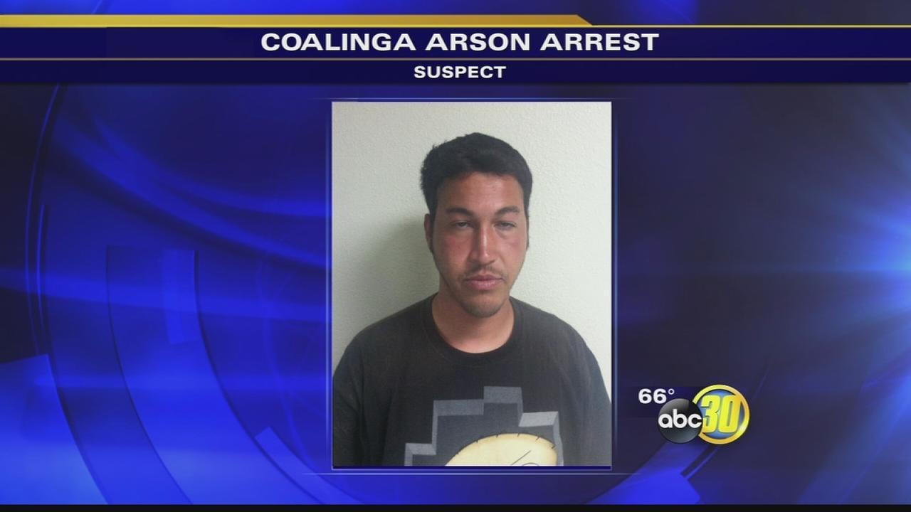 Coalinga police arrest arson suspect again