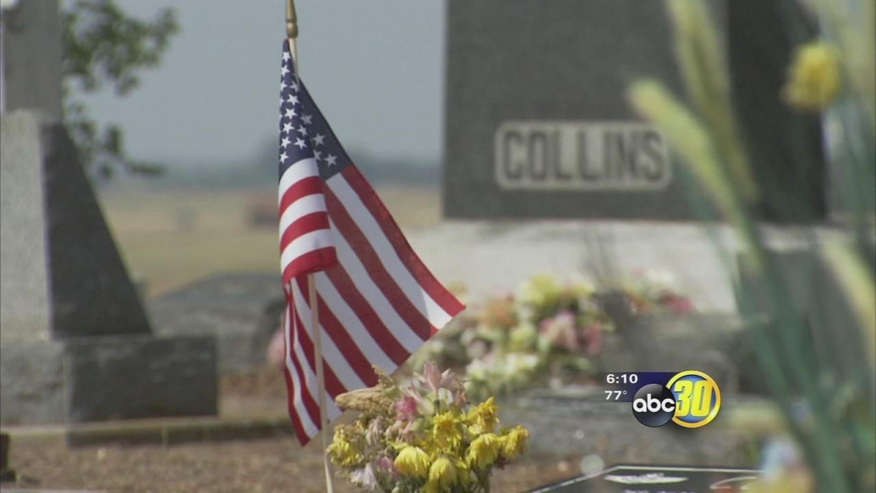 American flags fly at Clovis cemetery ahead of Memorial Day