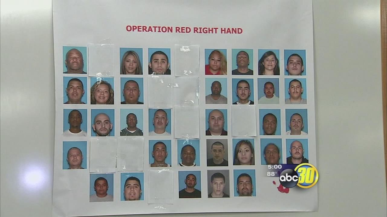 75 arrests in Merced County gang take down