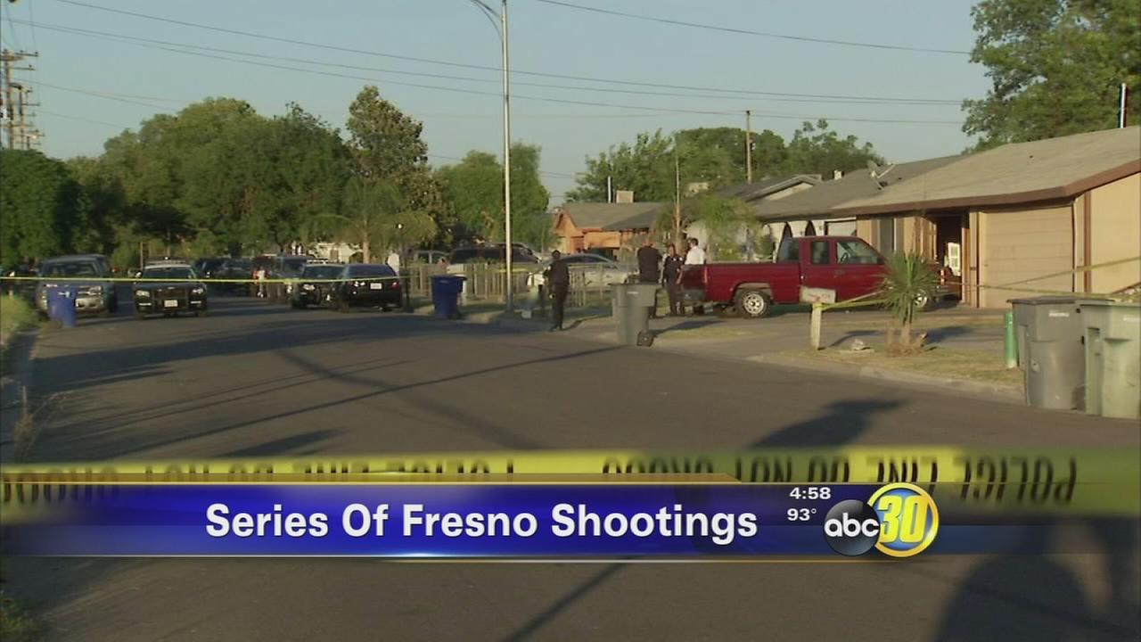 3 separate shootings leave 4 people wounded in Fresno