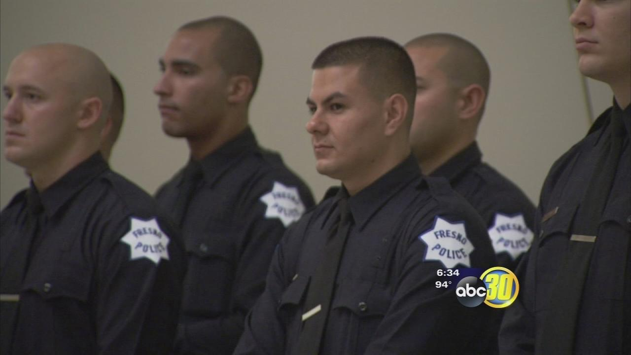 New Fresno police officers sworn in at City Hall