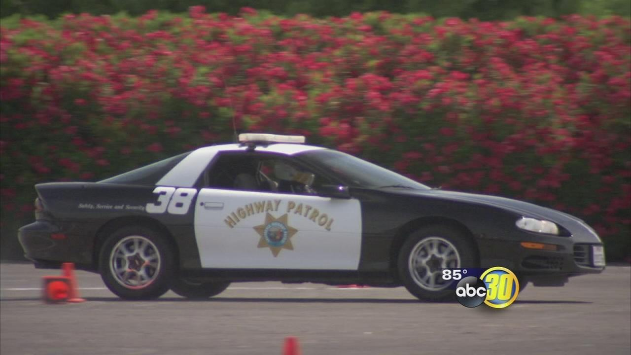 Officers speed for charity at Fresno Fairgrounds