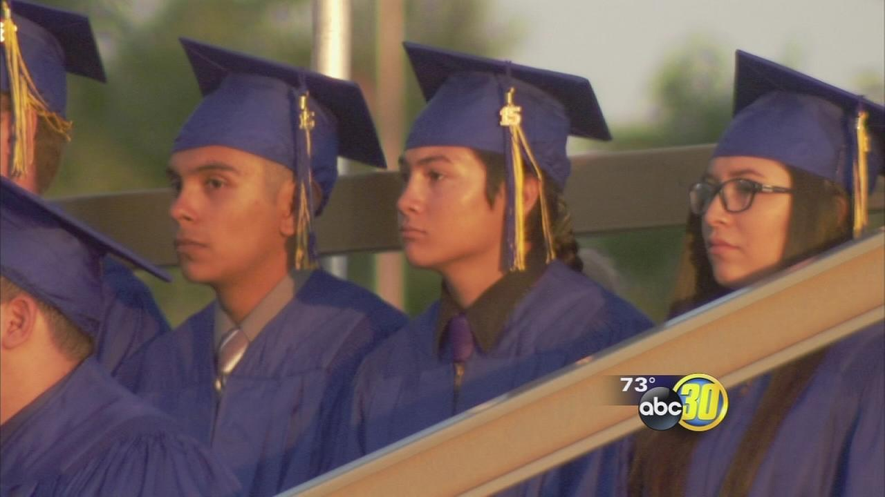 Clovis High School graduates nearly 700, at least 5,000 fill Lamonica Stadium