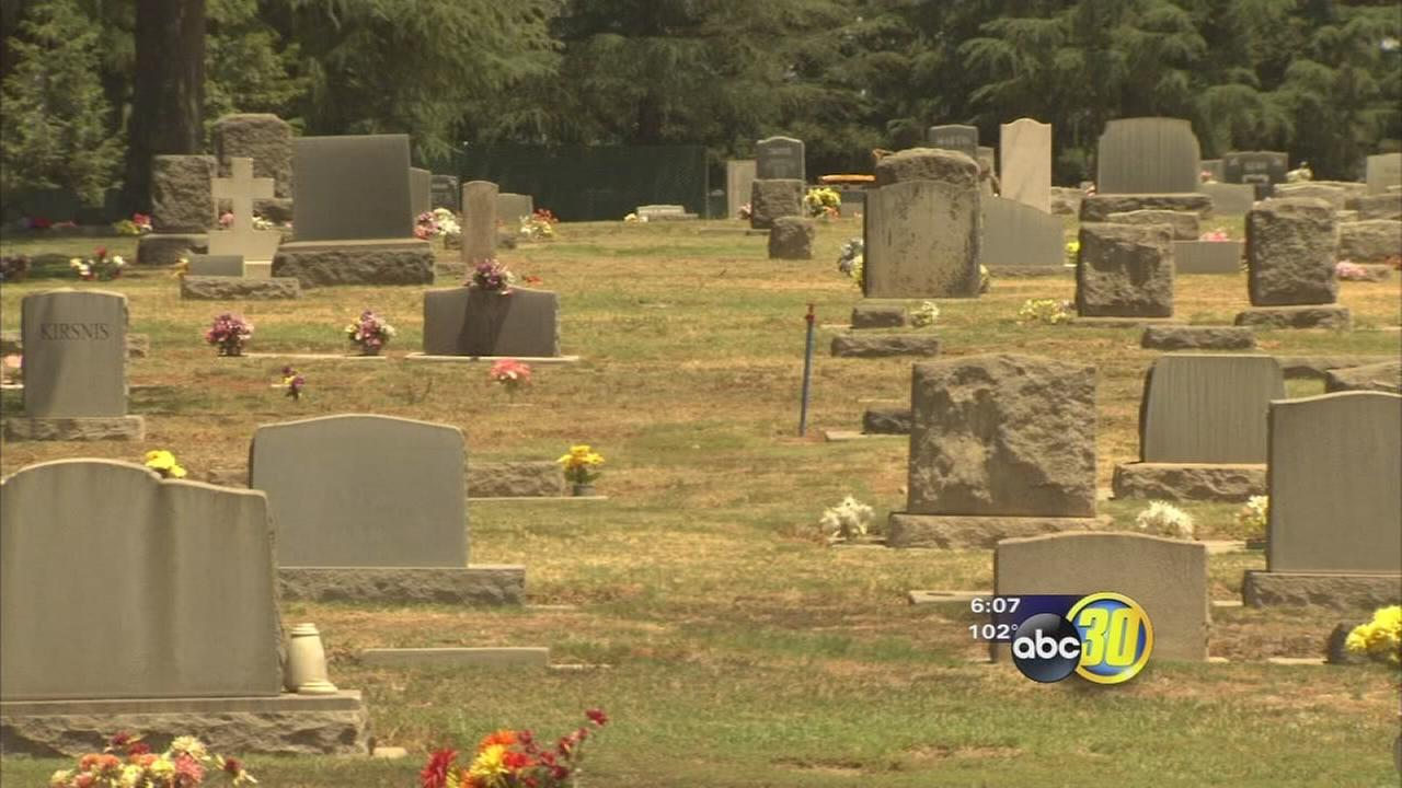 Valley cemetery lawns stressed by drought rules