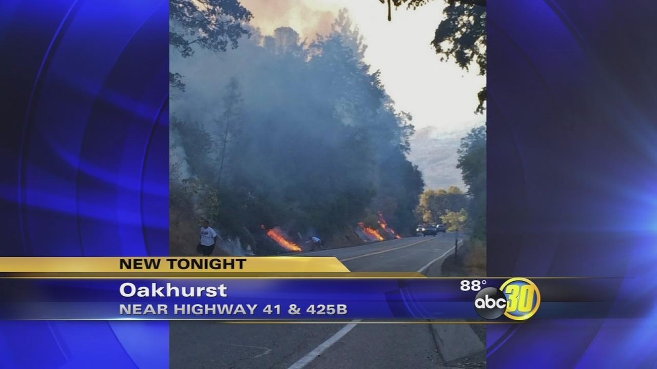 Several small fires burn in Oakhurst