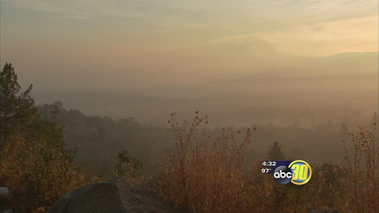 Valley air officials urge caution due to wildfires