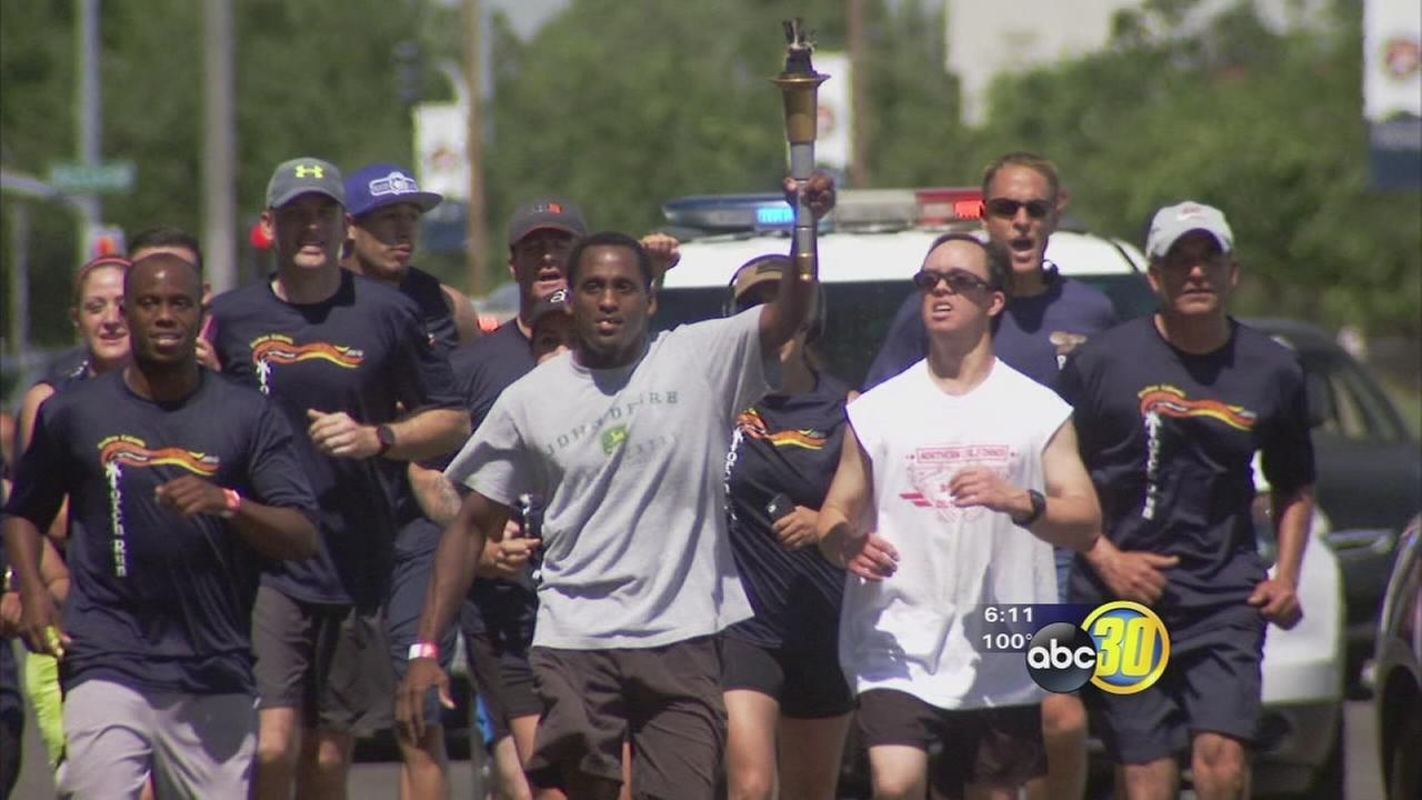 Special Olympics torch runs through Fresno