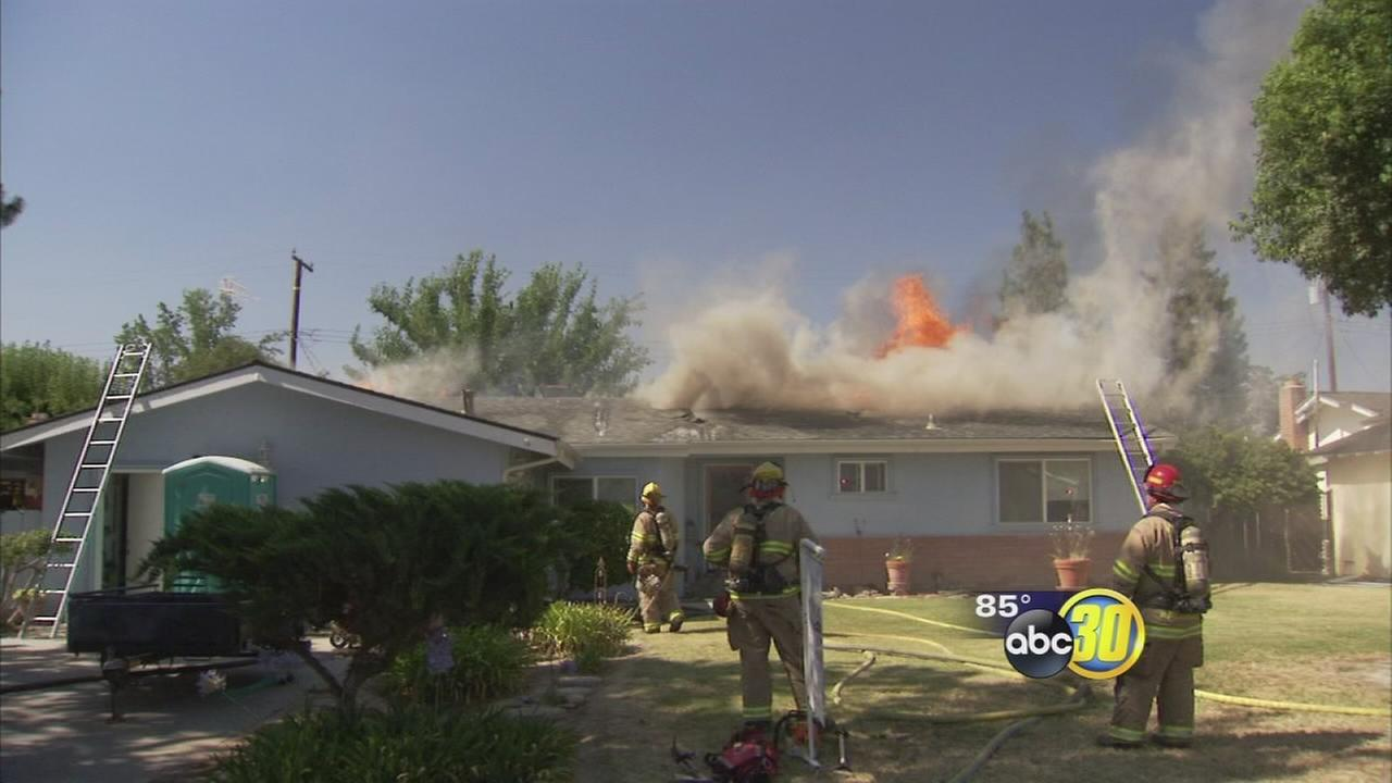 Visalia house fire sparked while contractors worked on roof, investigators say