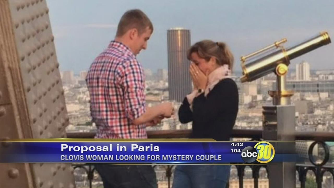 Clovis woman looks for couple after engagement at Eiffel Tower