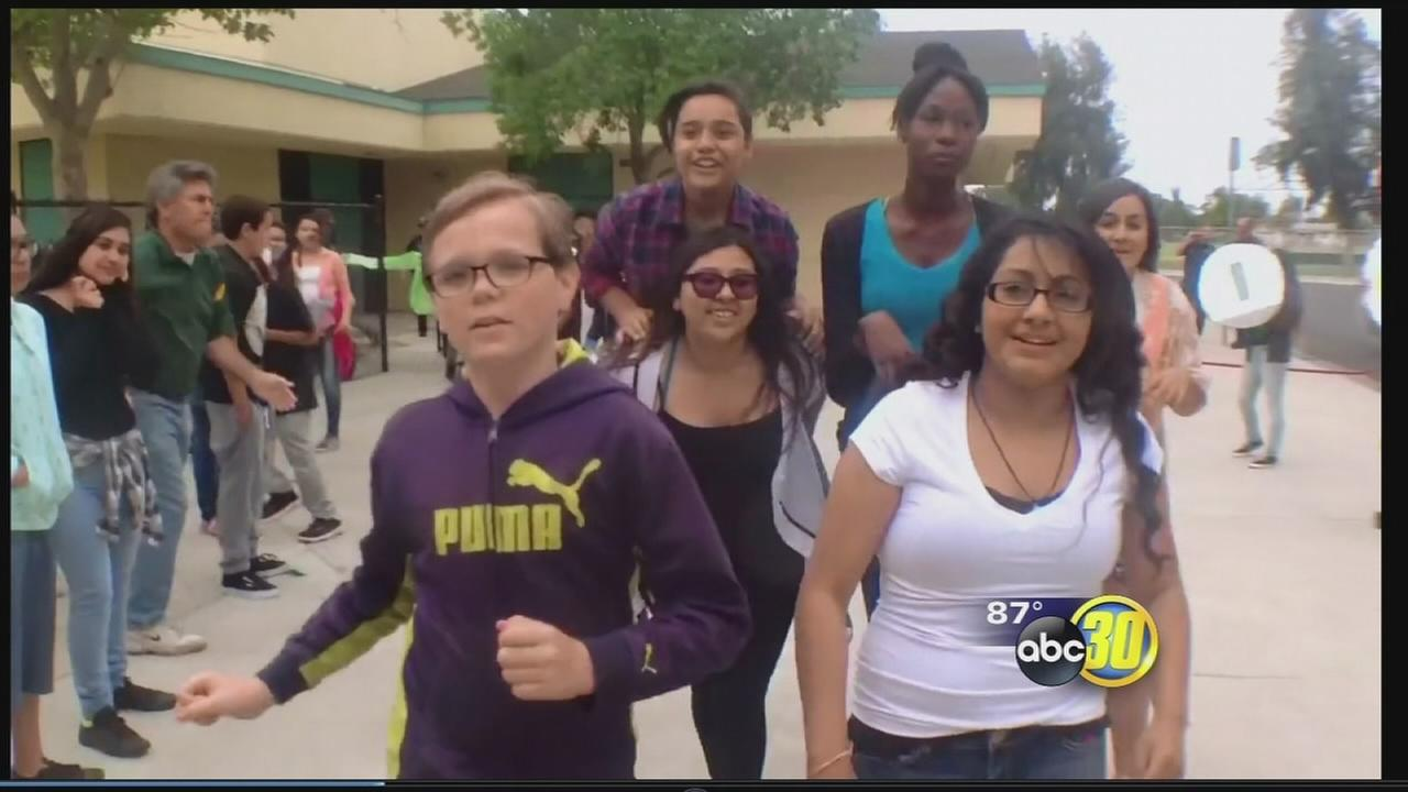 Hanford students create lip dub video to celebrate end of school year