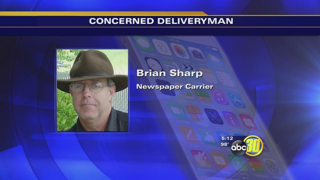 Newspaper delivery man saves elderly woman in Fresno