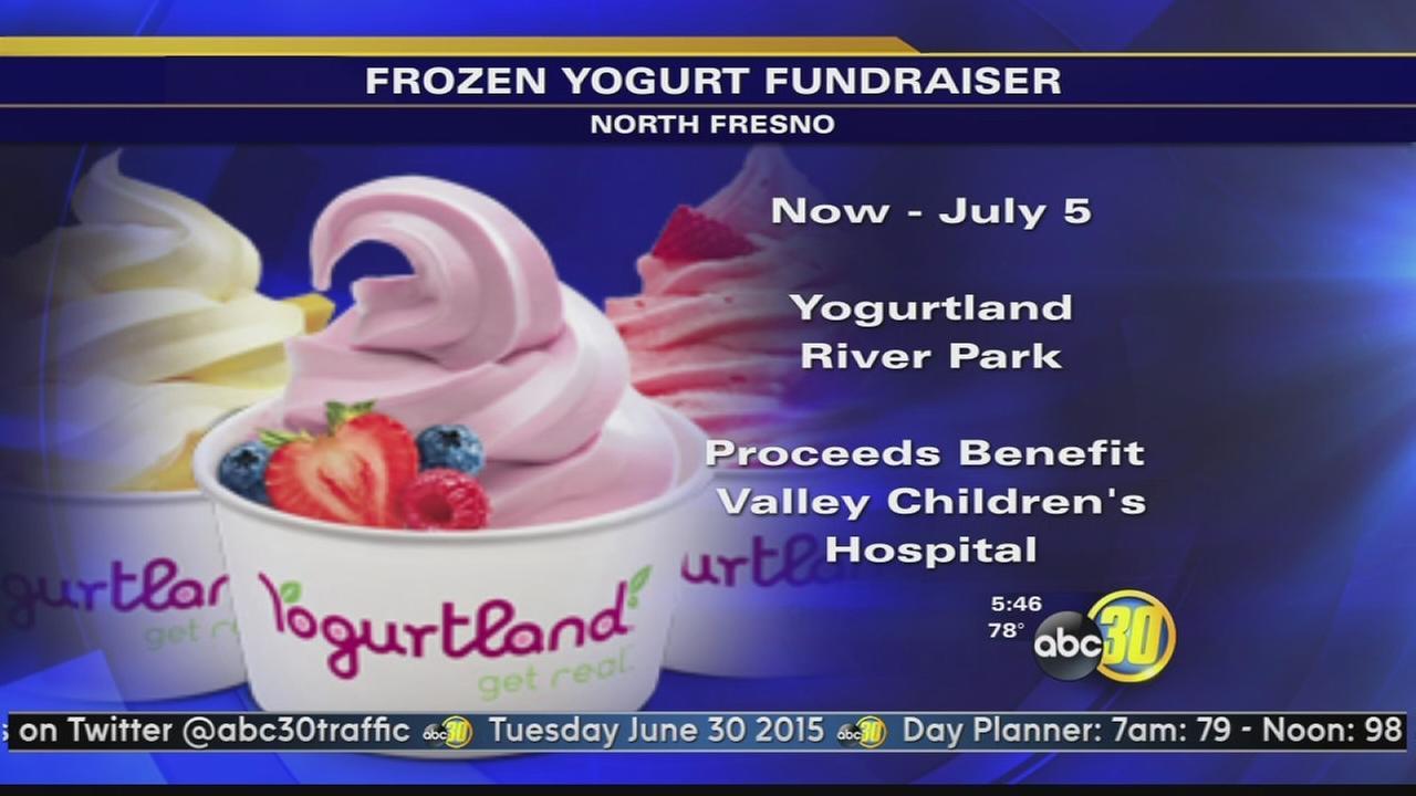 River Park Yogurtland raising money for Valley Childrens Hospital