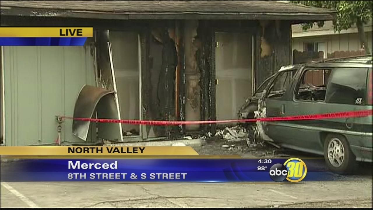 3 arson fires leave more than a dozen homeless in Merced