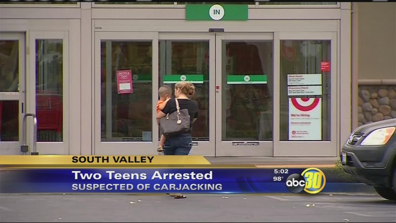 2 teen carjacking suspects arrested in Visalia
