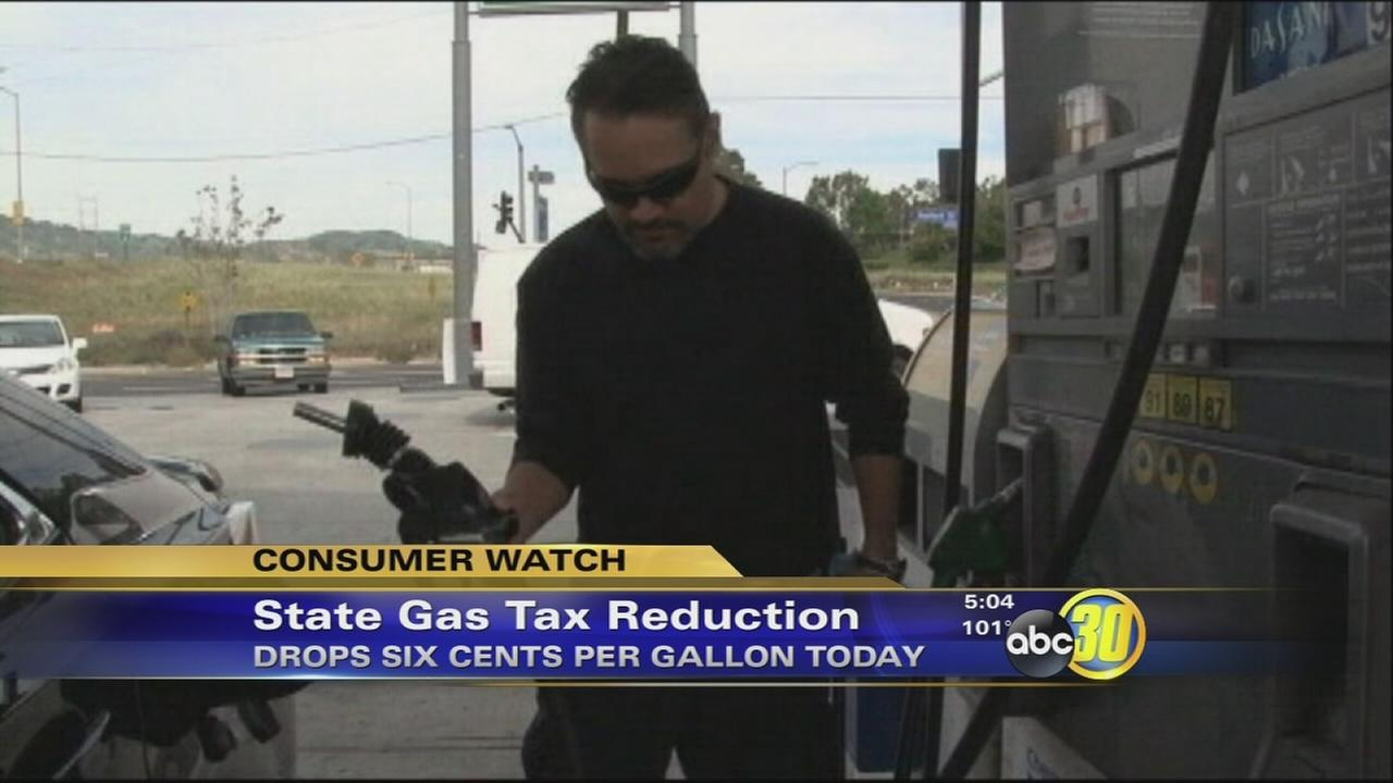 California gas tax drops by 6 cents