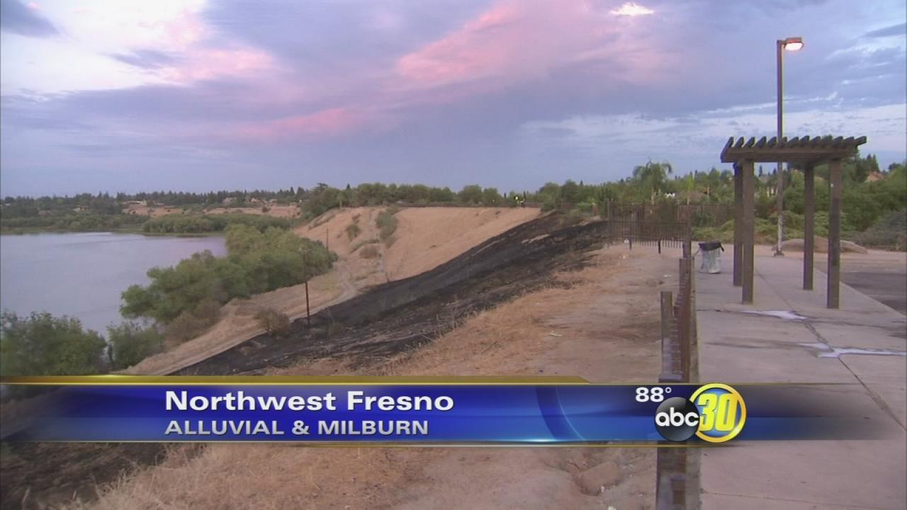 Wildfire burns several acres near San Joaquin River in Fresno