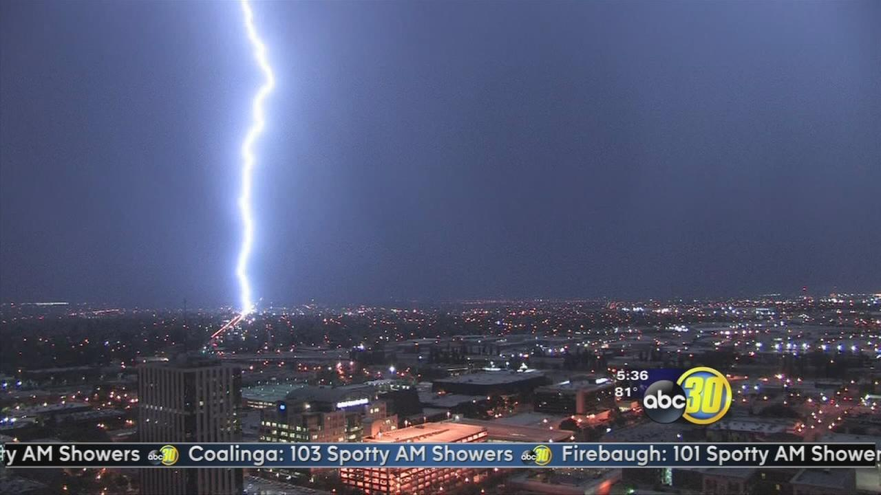Lightning storm rolls through the Valley