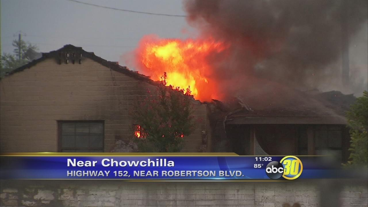 Lightning suspected in fire that burned home near Chowchilla