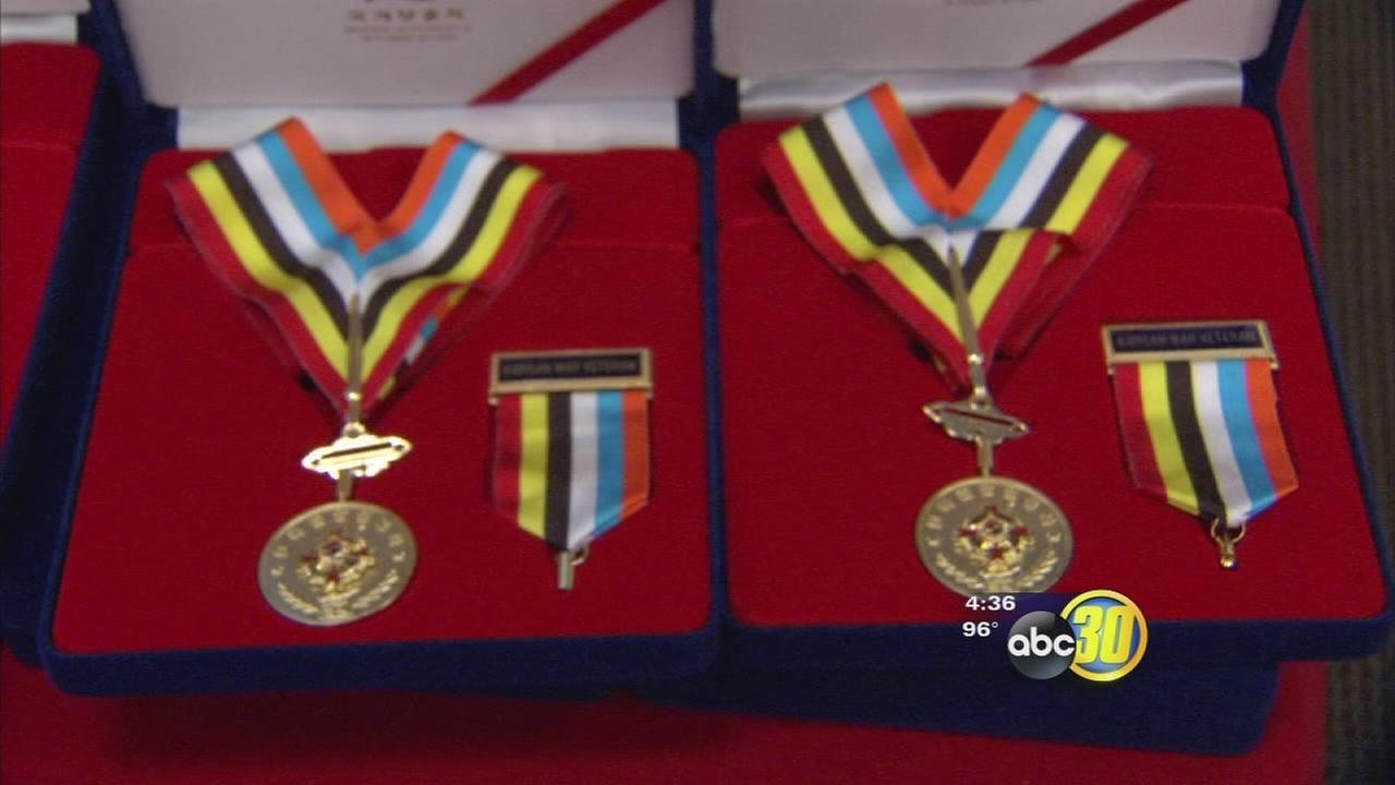 Veterans receive Ambassador for Peace medals from South Korean Government