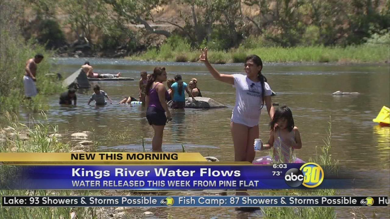 Water released into the Kings River ahead of holiday weekend