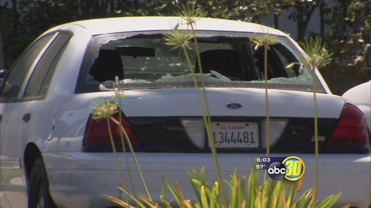 Vandals break 47 cars windows, damage Civic Center in Visalia