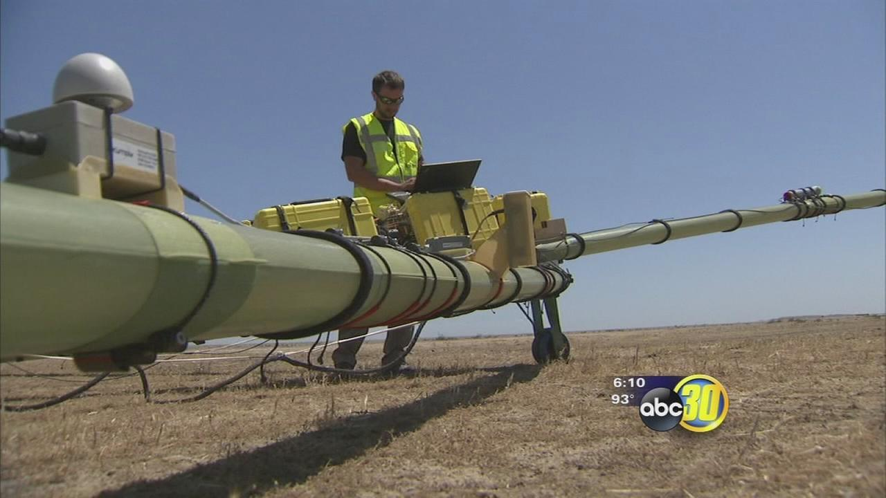 Aerial survey team searching for groundwater in Coalinga