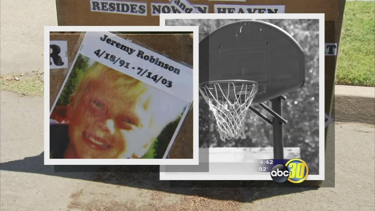 Stolen basketball hoop returned before 12th anniversary of Fresno boys death