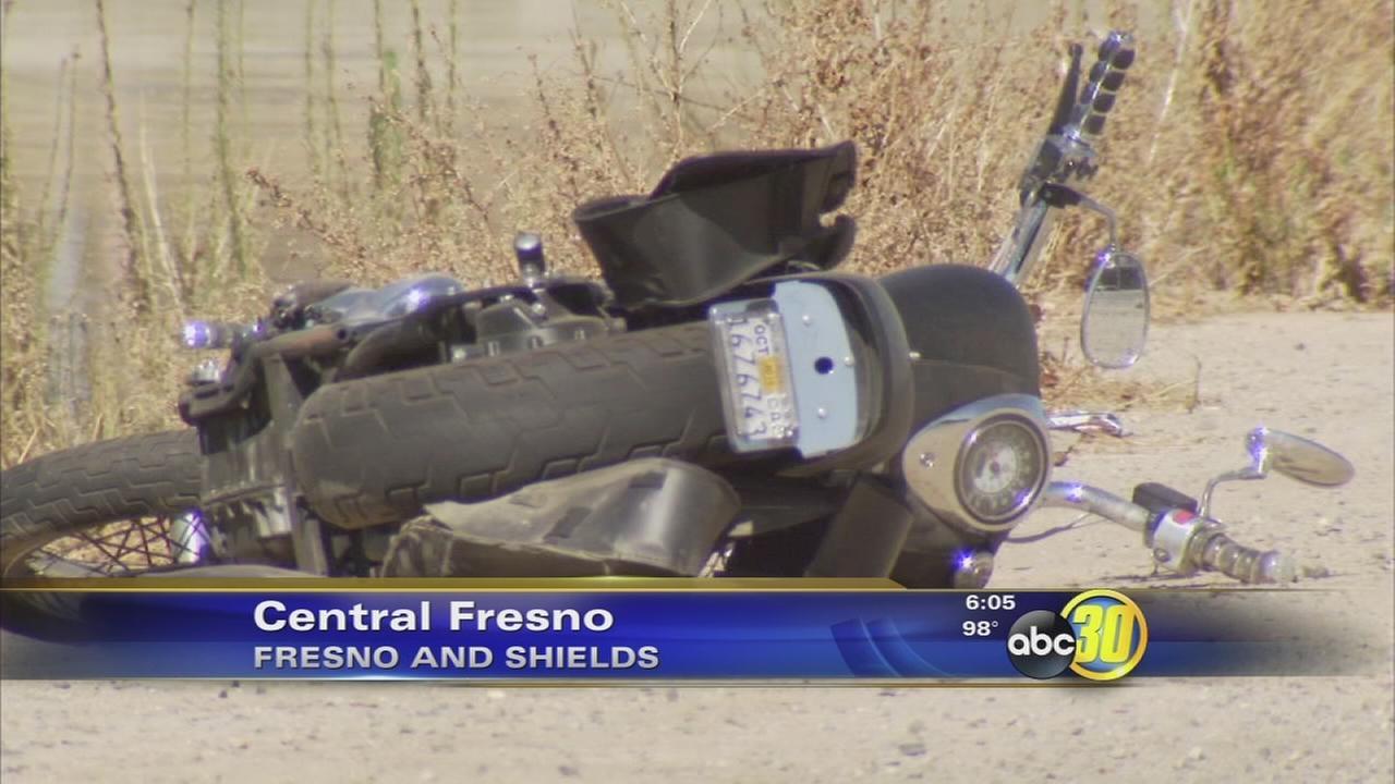 Motorcyclist taken to hospital after Central Fresno crash